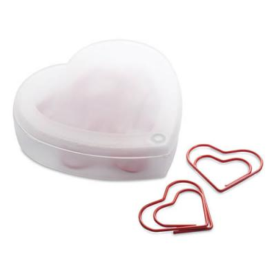 Image of Heart shape clips in box