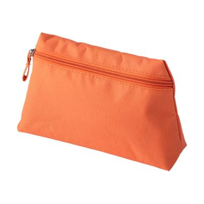 Image of Polyester (600D) toilet bag in a tapered form with matching zipper and puller