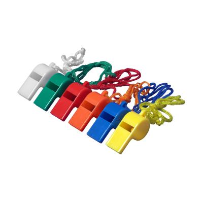 Image of Plastic whistle with neck cord. (sold 48pc per box)