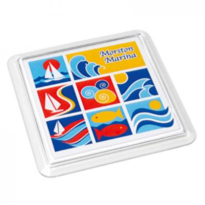 Image of Acrylic Coaster Square 95x95mm