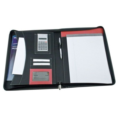 Image of A4 Zipped Cape Town Conference folder (in red and black)