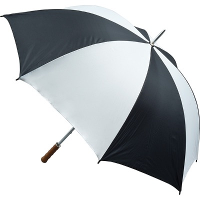 Image of Quantum Golf Umbrella - Black and White