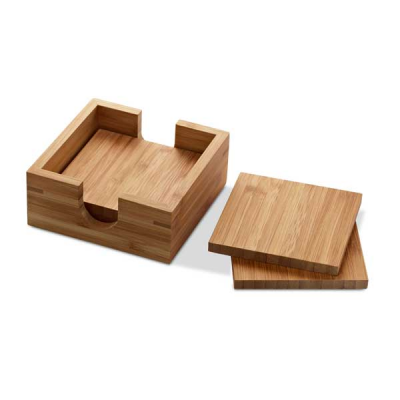 Image of Set Of 4 Coasters Bamboo