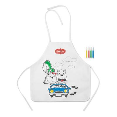 Image of Non woven apron with 4 markers