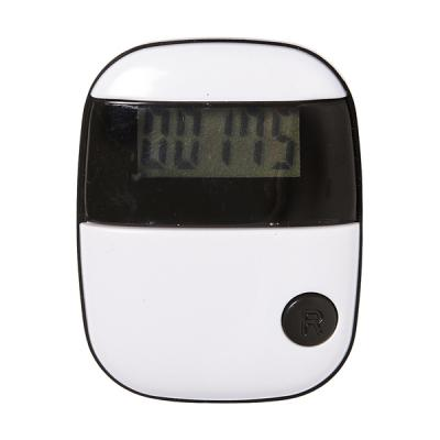 Image of Plastic pedometer with step counter and belt clip