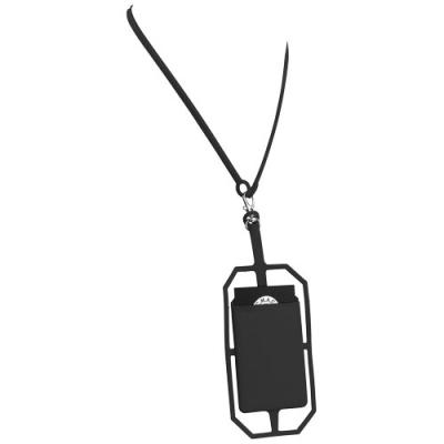 Image of Silicone RFID Card Holder with Lanyard
