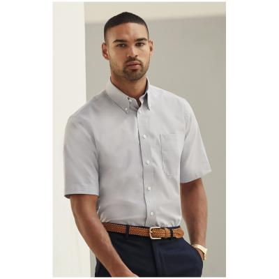 Image of Fruit of The Loom Men's Short Sleeve Oxford Shirt