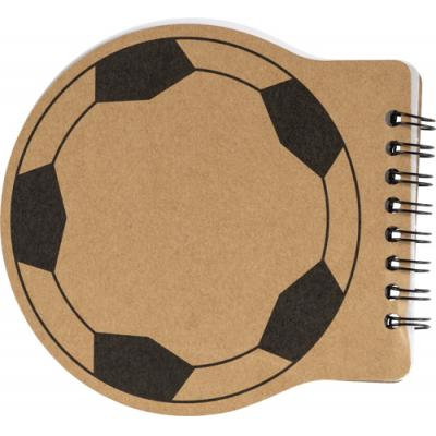 Image of Football shaped notebook