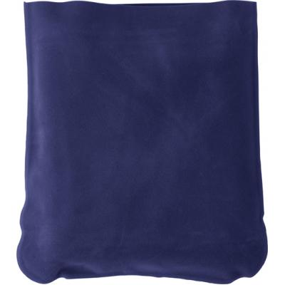 Image of Inflatable velour travel cushion