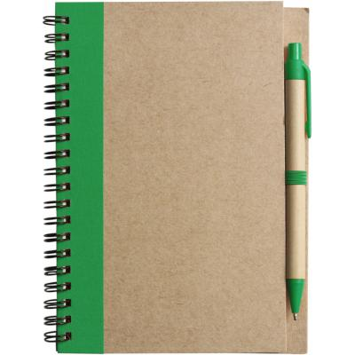 Image of Wire bound notebook with ballpen.